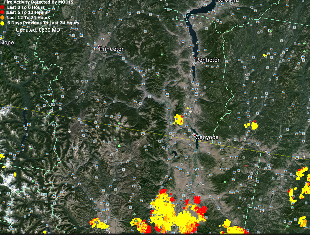 It Uses Near Real Time Satellite Sensing From The Us Government To Show Where Current Wildfires Are